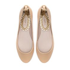 BALLERINA WITH ANKLE STRAP from Zara #poachit