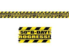 Warning Tape 50th Birthday
