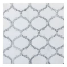 Marrakech Arabesque Lantern Waterjet Mosaic Tile Carrara & White Thassos