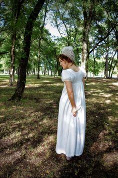 """Festive Attyre: Regency """"little white dress"""" Regency Era, Little White Dresses, All White, Costume Dress, Dress Up, Flower Girl Dresses, Poses, Costumes, Summer Dresses"""