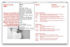 Website for Samson Leung on Web Design Served Minimal Website Design, Website Design Layout, Web Layout, Layout Design, Graphic Design Posters, Graphic Design Typography, Photo Images, Typography Layout, Ui Web
