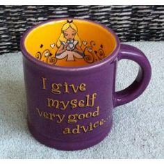 Disney Alice in Wonderland Advice Purple Ceramic Mug