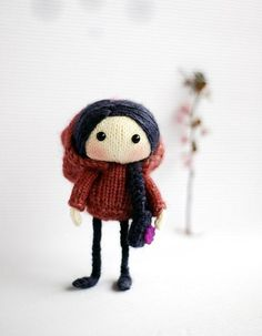 Adorable Purple Viola Doll Knitting pattern available at LoveKnitting.Com - A great project for your little one!