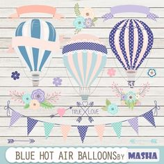 Blue Hot Air #Balloons #Clipart - http://luvly.co/items/3929/Blue-Hot-Air-Balloons-Clipart