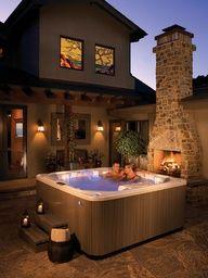 Hot tub & Fire