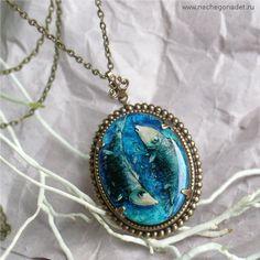 Pisces Pendant Necklace Zodiac Jewelry  by Nechegonadet on Etsy, $38.00