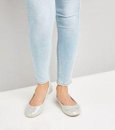 Silver Shimmer Ballet Pumps   New Look