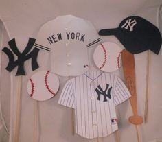 Photo booth props The NY Mets baseball team by flutterbugfrenzy, $23.00