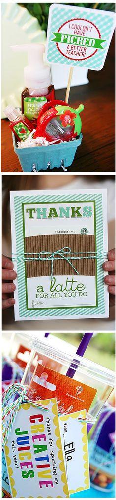 Teacher appreciation ideas :: 3 gifts for teacher appreciation day