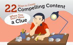 Infografik: 22 Wege um fesselnden Content zu finden