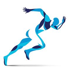 Trendy stylized illustration movement, running man, line vector silhouette of running man vector art illustration Running Art, Running Man Logo, Logo Sport, Sports Graphic Design, Man Illustration, Ab Workout At Home, Anatomy Art, Foto Art, Sports Art