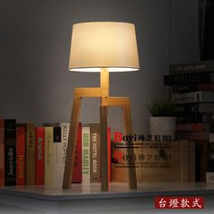 2015 New Arrival Hot Sale Lamp Table Desk Wooden Lamp Nordic Ikea American Country Living Room Study Bedroom Simple Decorative Wooden Table Lamps, Wooden Desk, Creative Lamps, American Country, Table Desk, Woods, Ikea, Lights, Living Room