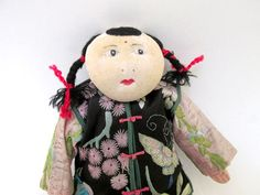 1950s Chinese Tourist Cloth Doll / Antique by CreekLifeTreasures