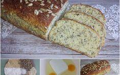 MANDLOVÝ CHLÉB S CHIA - nízkosacharidový Healthy Baking, Lchf, Banana Bread, Paleo, Low Carb, Vegetarian, Yummy Food, Homemade, Desserts