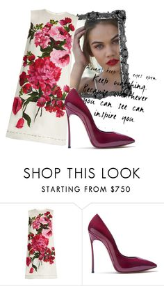 """""""Untitled #644"""" by pauloskompanieros on Polyvore featuring Dolce&Gabbana and Casadei"""