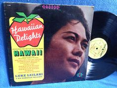 Vintage Hawaiian Delights Vinyl LP Record Album by sweetleafvinyl
