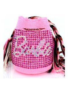 Wayuu Animal, Mini Mochila, Tapestry Bag, Crochet Bags, Handmade Bags, Drawstring Backpack, Purses And Bags, Macrame, Barbie