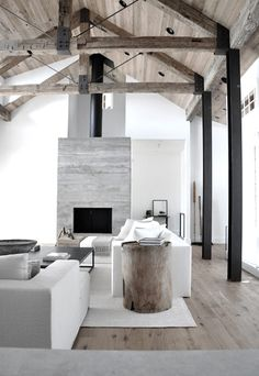 Love the modern, yet rustic, vibe.