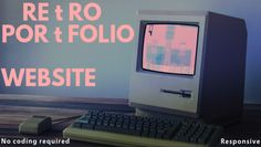 Retro One Page Website by theXdesign on @creativemarket