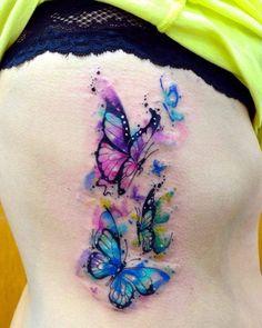 Mariposas en Acuarelas by Javi Wolf - Tatuajes para Mujeres. Encuentra esta muchas ideas mas de Tattoos. Miles de imágenes y fotos día a día. Seguinos en Facebook.com/TatuajesParaMujeres!