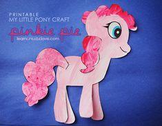 Printable My Little Pony Craft: Pinkie Pie