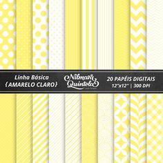 Basic Papers Kit – Light Yellow – Nilmara Quintela Paper Designer