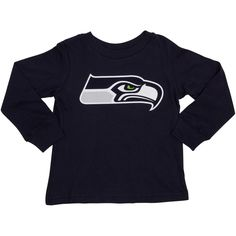 Seattle Seahawks Toddler Team Logo Long Sleeve T-Shirt - College Navy