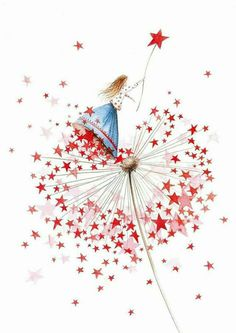 Nieuwjaarsbrieven 2016 Illustratie An Melis Jolie Photo, Whimsical Art, Christmas Art, Pretty Pictures, Cute Drawings, Cute Art, Watercolor Art, Fantasy Art, Illustration Art