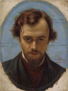 Portrait of Dante Gabriel Rossetti  - William Holman Hunt, 1853