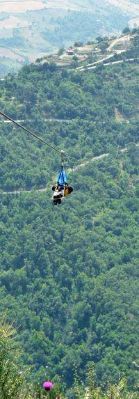 Flight of the Angel, longest zipline in the world: Italy