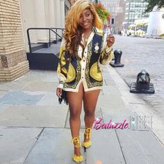 Women Shirt Dress African Traditional Dashiki Patterns Print Turn Down Collar Long Sleeve Casual Tops yellow l Online Shopping Stylish Outfits, Fashion Outfits, Womens Fashion, Swag Outfits, Fashion Shoot, Urban Fashion, Spring Dresses Casual, Floral Shirt Dress, Floral Dresses