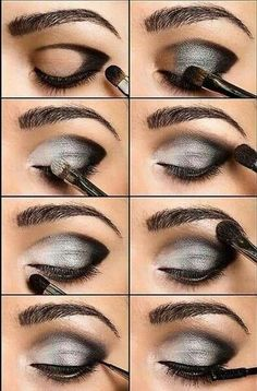 DIY smokey eye look
