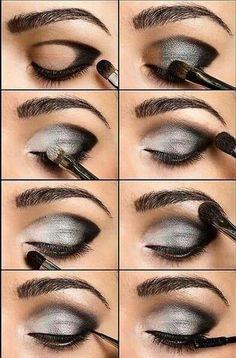 DIY smokey eye look