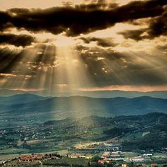 A beautiful panorama of the province of Perugia.