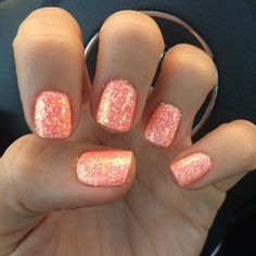 Want to look and feel special on nails this year? Choose nail designs that best describe your dynamic personality and let this season be unique and unforgettable! There are all types of nail art designs, nail colors, acrylic nails, coffin nails, almond na Coral Toe Nails, Nails Yellow, Coral Nail Polish, Stiletto Nails, Coffin Nails, Peach Nails, Polish Nails, Coral Nails Glitter, Chellac Nails