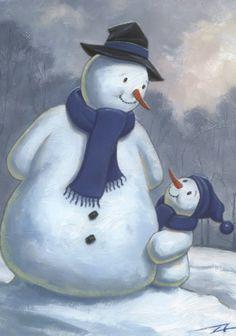 ❄❄❄❄.♥...☆...❤...☆...♥.❄❄❄❄ Whimsical Folk Art - snowman