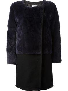 Sonia By Sonia Rykiel Bi-colour Mix Coat