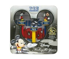 "Pez Disney / Mickey Mouse 80th Anniversary Plastic Candy Dispenser with Candy Rolls by PartyLand. $26.95. Brand Name: PartyLand Mfg#: PL-000910. Shipping Weight: 2.00 lbs. Please refer to SKU# PRA22950512 when you inquire.. Picture may wrongfully represent. Please read title and description thoroughly.. This product may be prohibited inbound shipment to your destination.. This ""Since 1928 Mickey Mouse 80th Anniversary Gift Set comes with three (3) units of Unique Pez Dispense..."