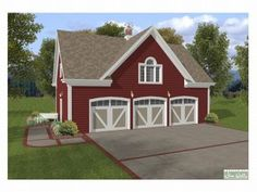 [ Houseplans Picks Garage Plans Car Carriage House Plan One Story Apartment ] - Best Free Home Design Idea & Inspiration 3 Car Garage Plans, Garage Apartment Plans, Garage Apartments, Barn Apartment, Above Garage Apartment, Apartment Ideas, Detached Garage Plans, Garage Plans With Loft, Apartment Design