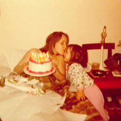 Happy Birthday To My Mama In The Sky — Mandy Richardson (#Mandyland) #family #love #death #birthday #kiss #mother #daughter #cake