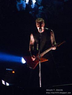 James Hetfield from Metallica in Lisbon-Portugal