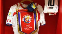 RECIFE, BRAZIL - JUNE 20: (EDITORS NOTE: A tilt shift lens was used in the creation of this image) A match shirt worn by Bryan Ruiz of Costa Rica hangs in the dressing rooom prior to the 2014 FIFA World Cup Brazil Group D match between Italy and Costa Rica at Arena Pernambuco on June 20, 2014 in Recife, Brazil. (Photo by Alex Livesey  2014 FIFA World Cup Brazil™: Italy-Costa Rica - Photos - FIFA.com
