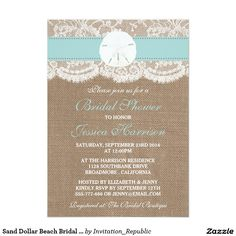 Sand Dollar Beach Bridal Shower - Turquoise