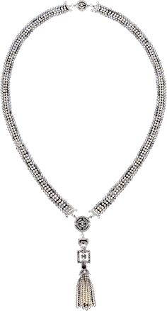 Platinum, diamond, pearl, seed pearl necklace, ca.1920,New York made, Cartier. Gorgeous tassels, and all of those tiny seed pearls... takes alot of patience!