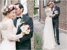 Brautpaarshooting, schwarzer Anzug, schwarze Fliege, Brautkleid, Blumenkranz, Brautpaar, Detail, Portrait, Foto: Violeta Pelivan