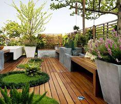 Disfruta del paisaje con un jardín  en la azotea