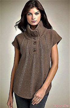 Beige knit cowl neck poncho with all brown outfit Knitting Patterns Free, Hand Knitting, Crochet Patterns, Tricot D'art, Fancy Tops, Plus Size Womens Clothing, Crochet Clothes, Pulls, Knitwear