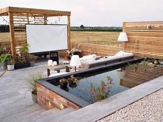How to create your own outdoor cinema - living / style - # own . - How to create your own outdoor cinema – living / style – - Rooftop Terrace Design, Terrace Garden Design, Terrace Decor, Rooftop Gardens, Rooftop Patio, Terrasse Design, Balkon Design, Outdoor Spaces, Outdoor Living
