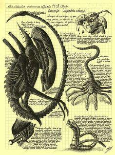 Alien Sketchbook Journal