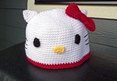 Crochet Hello Kitty Hat beanie